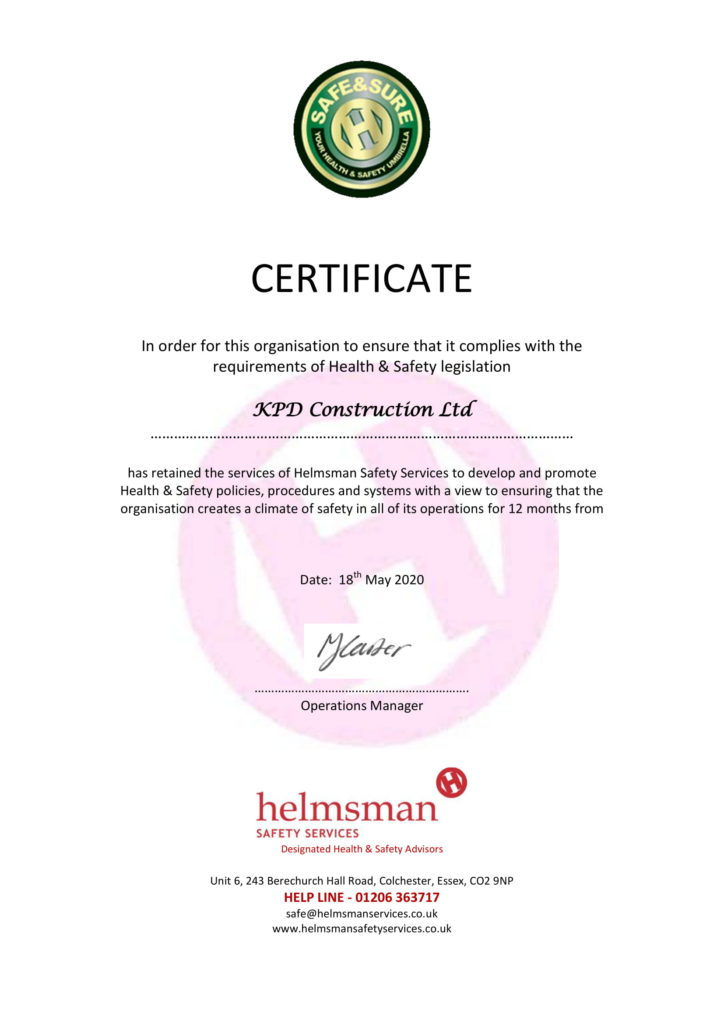helmsman safety certificate may 2020