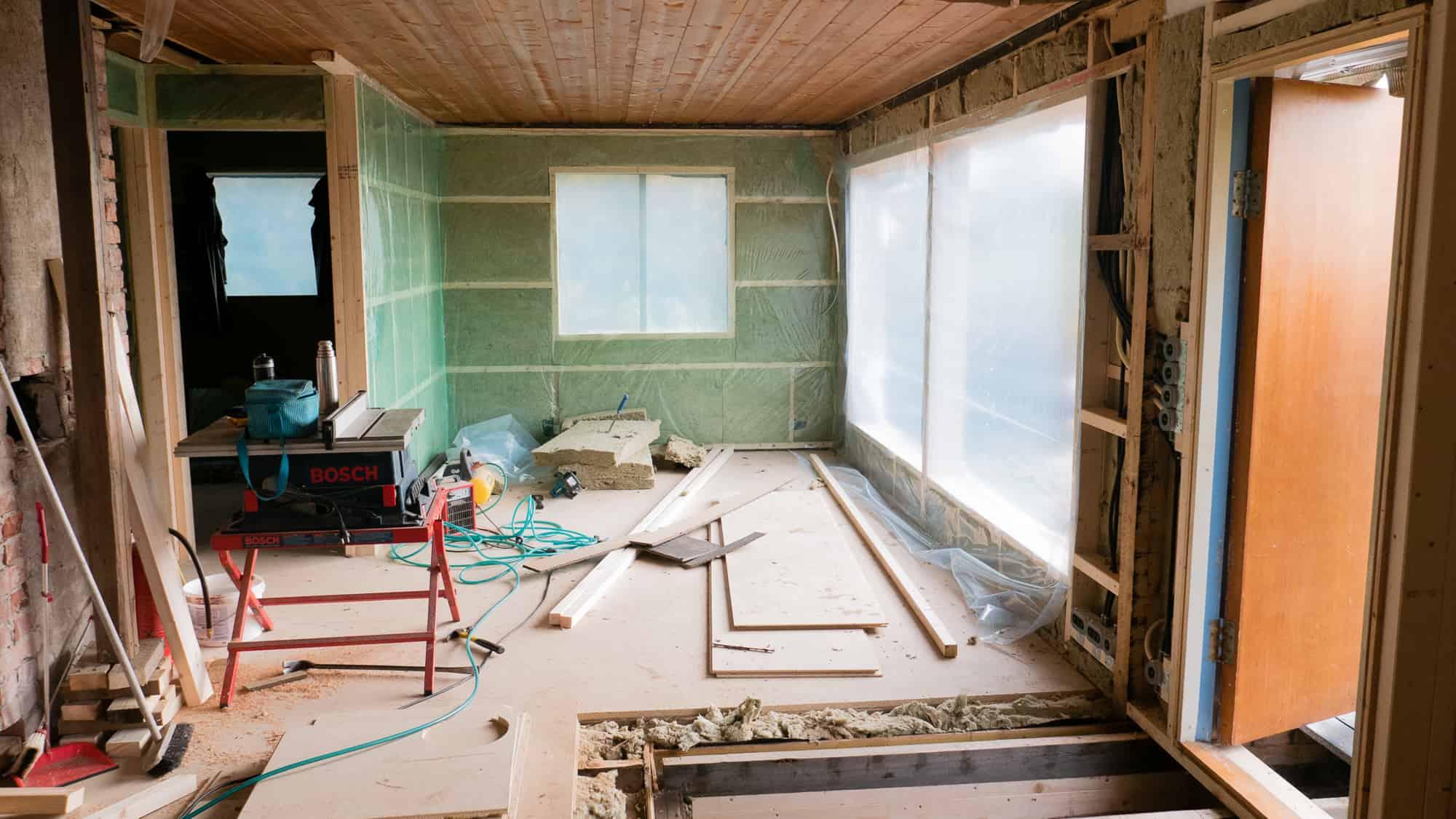 Home refurbishment in progress