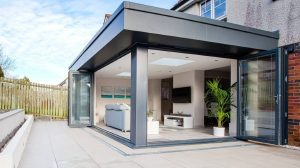 Open plan kitchen extension