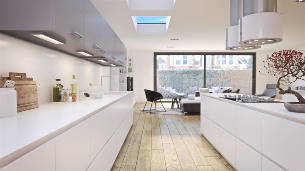 Kitchen extension interior view