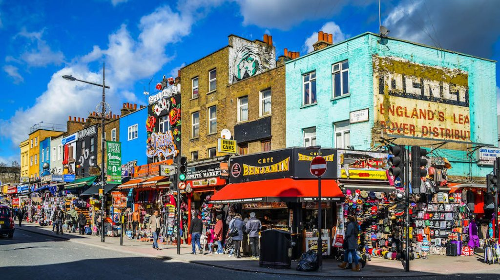 View of Camden town but what is the best place to live in North London?