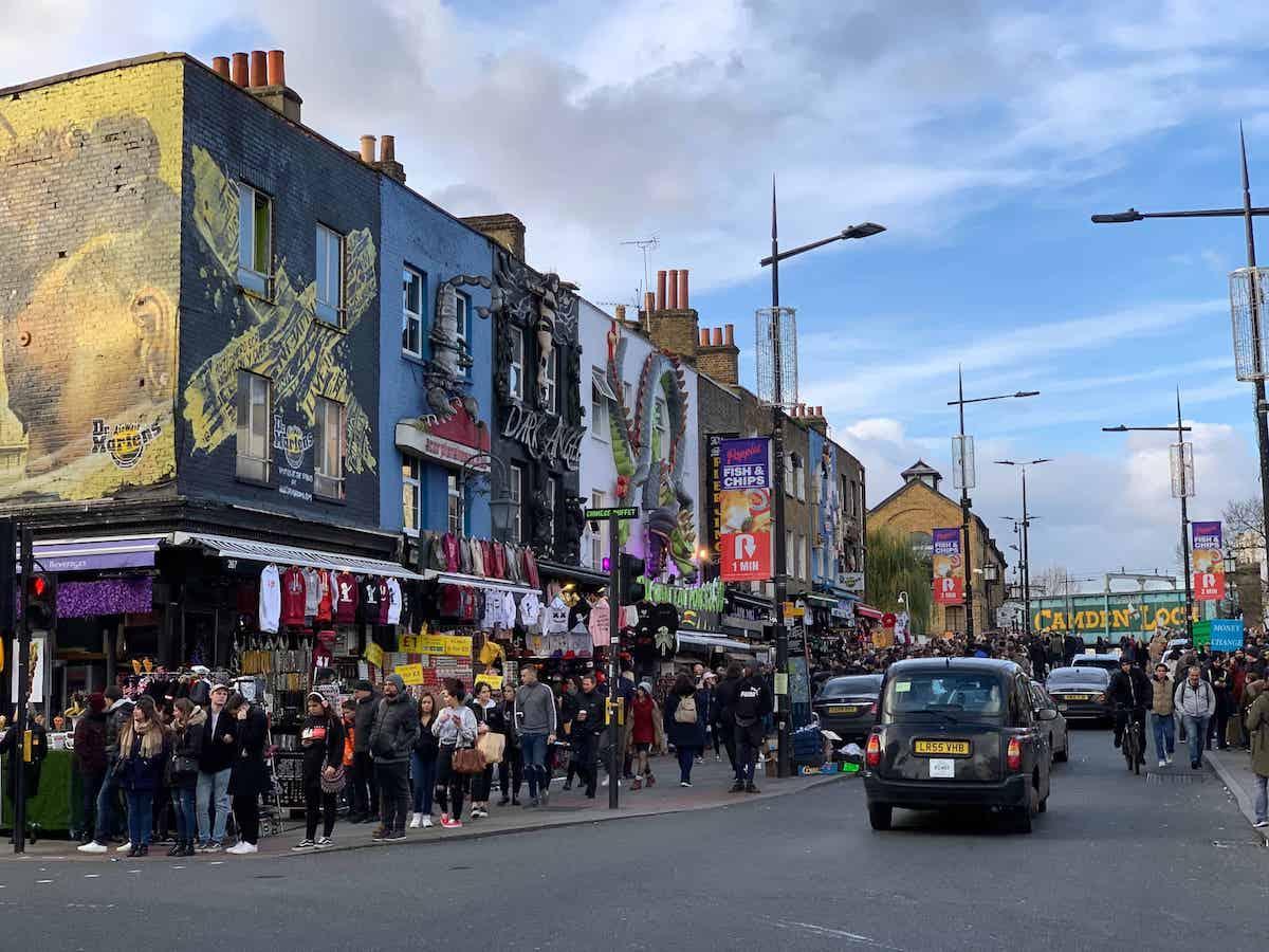 Camden High Street view