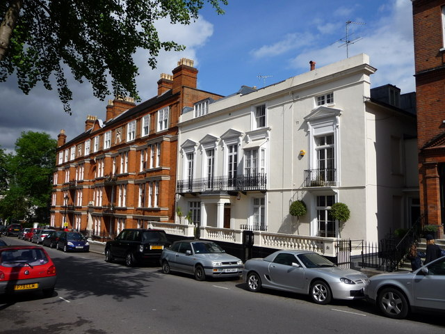 Downshire Hill in Hampstead - one of its most affluent neighbourhoods