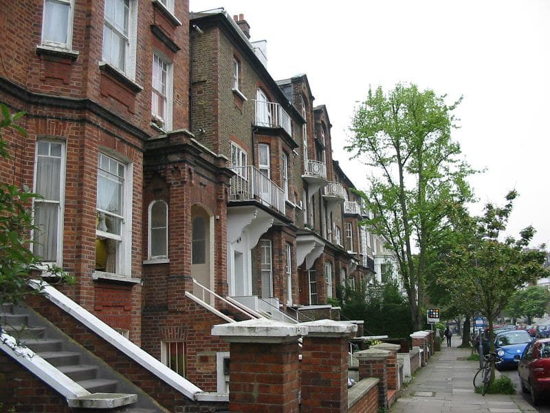A quiet residential street in Swiss Cottage
