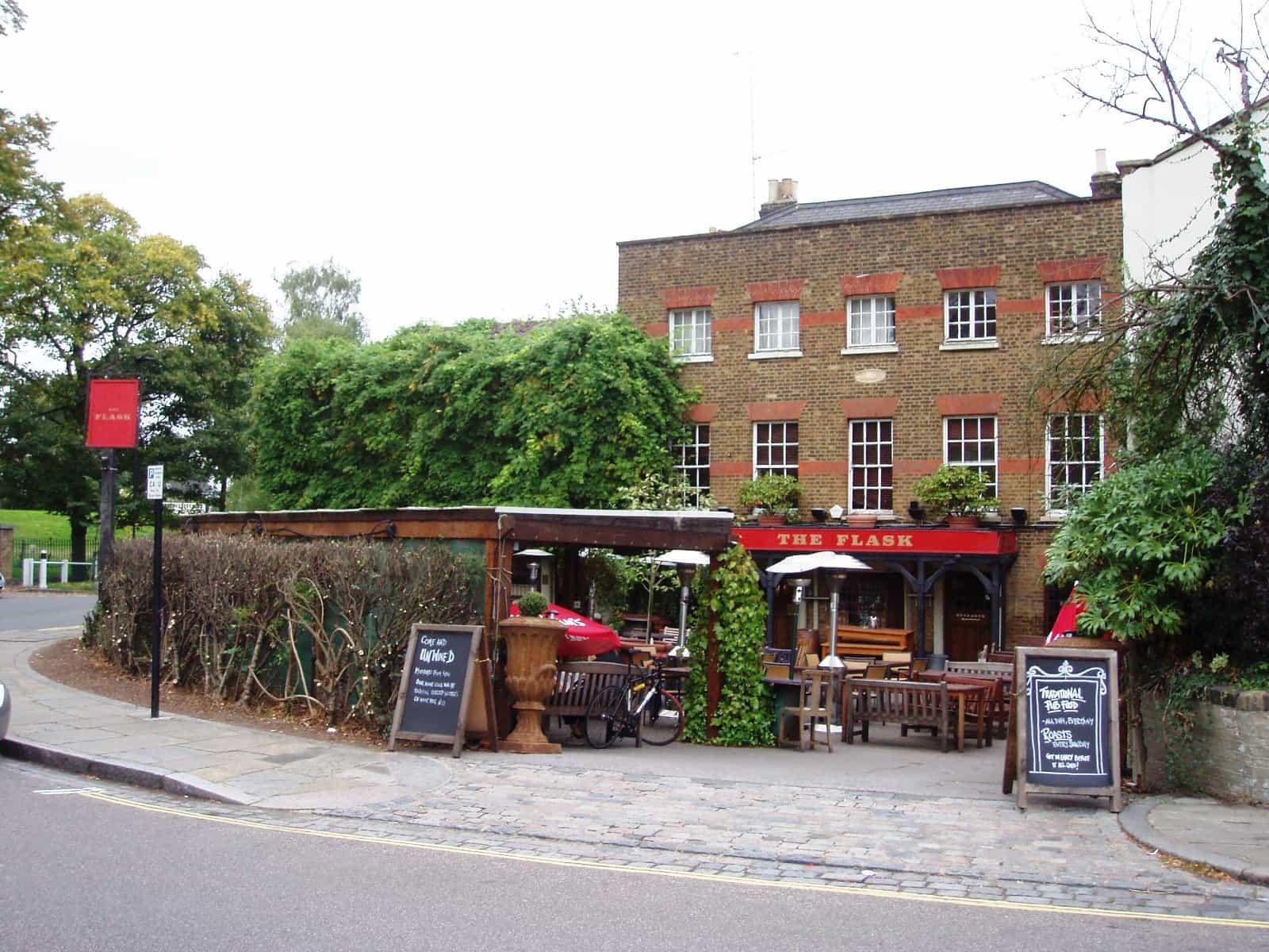 The Flask pub in Highgate, North London