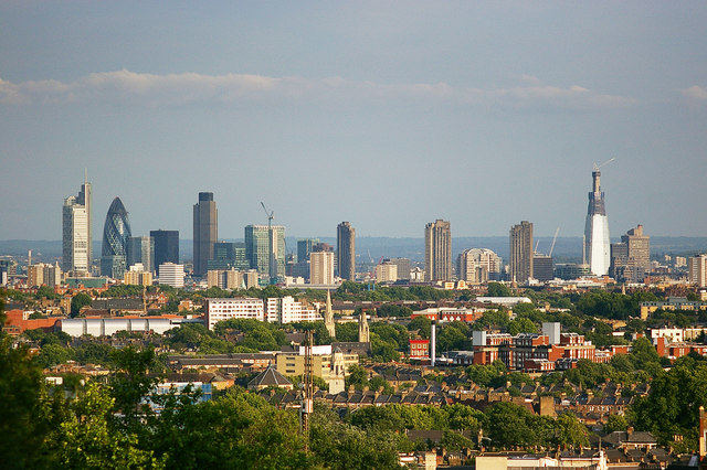 View of Central London from Archway