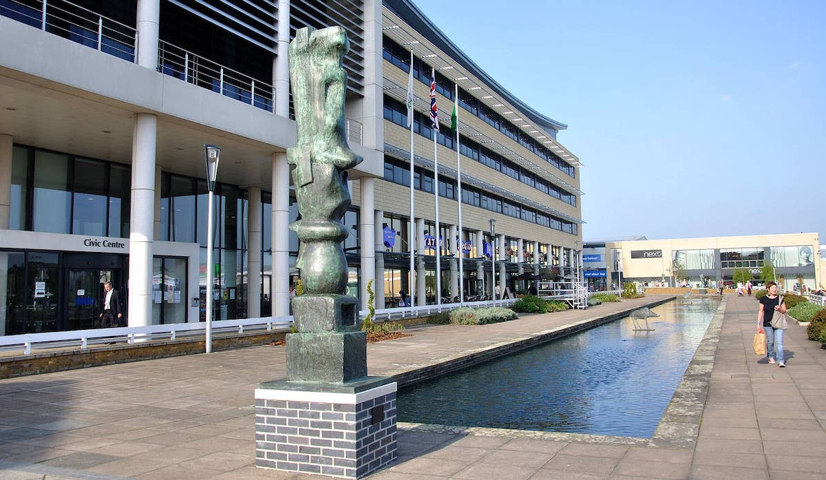 A view of the concourse in Harlow