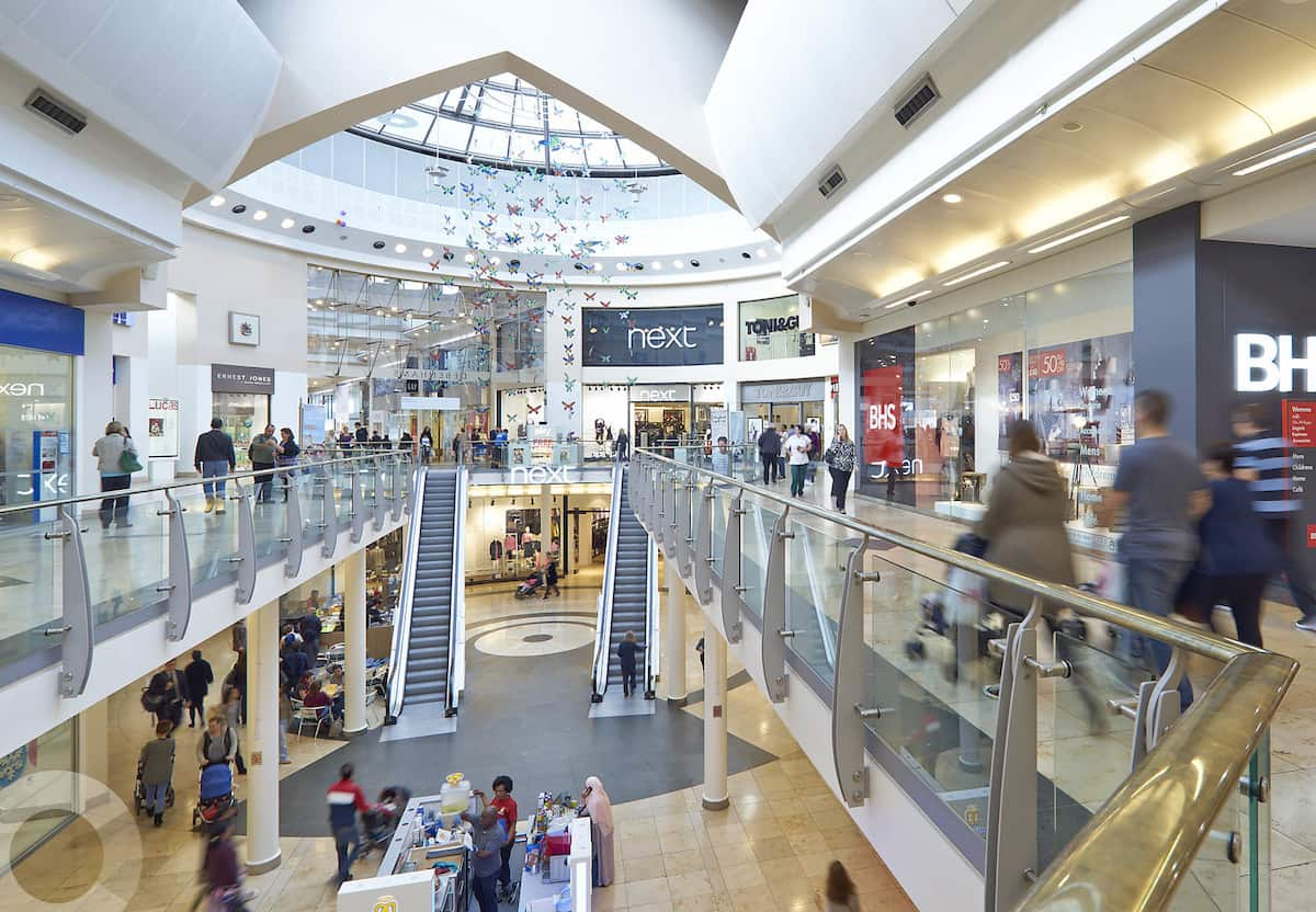 A view inside the Lakeside Shopping Centre, the best place for shopping in Essex