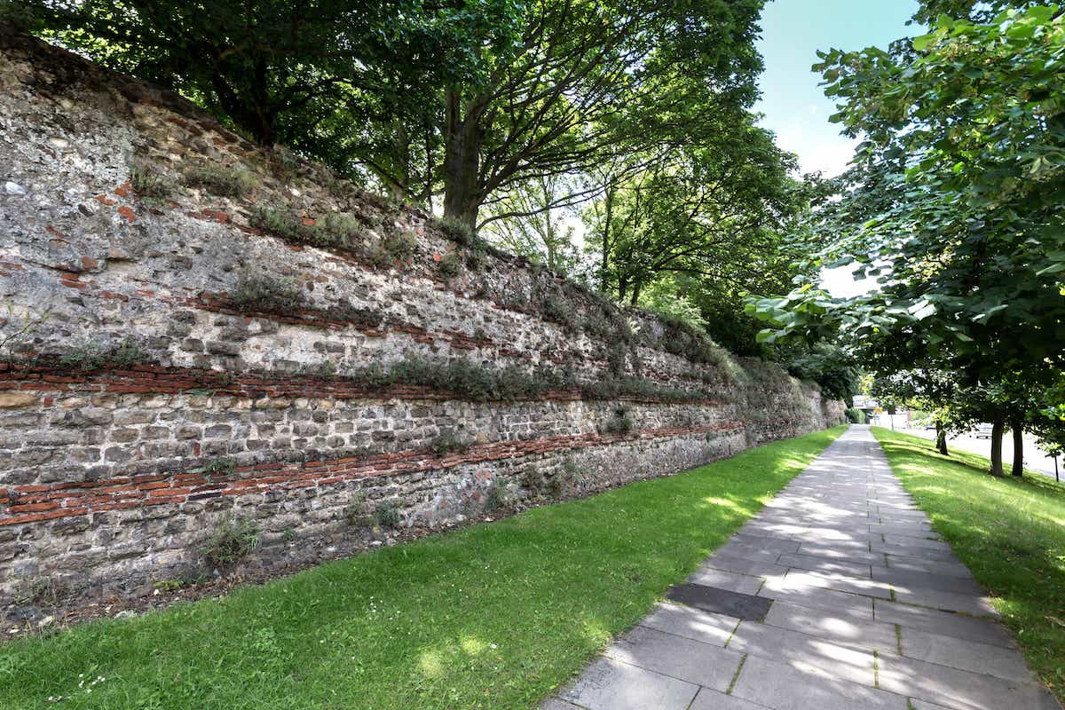 Part of the Roman Wall in Colchester, Essex