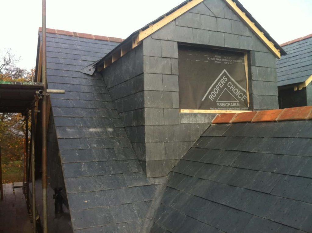 Dormer loft and roofing progress in Romford