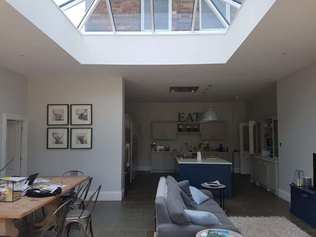 House extension with skylight, built by KPD Construction