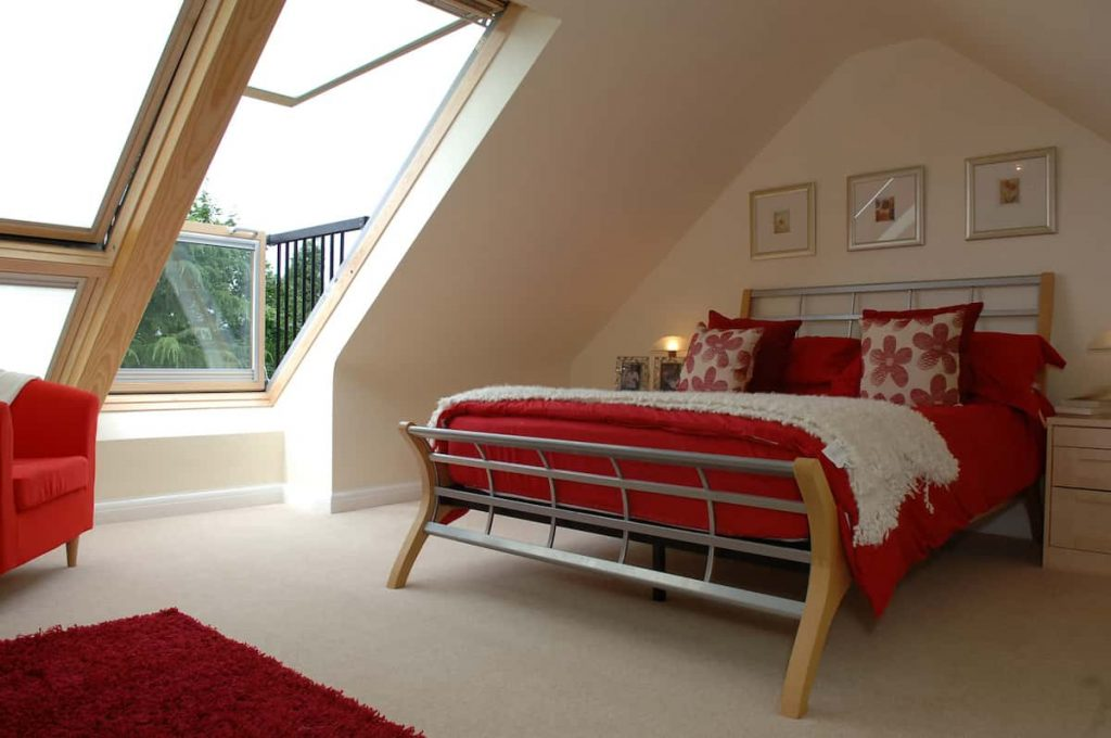 View of bedroom in our Romford Velux loft conversion