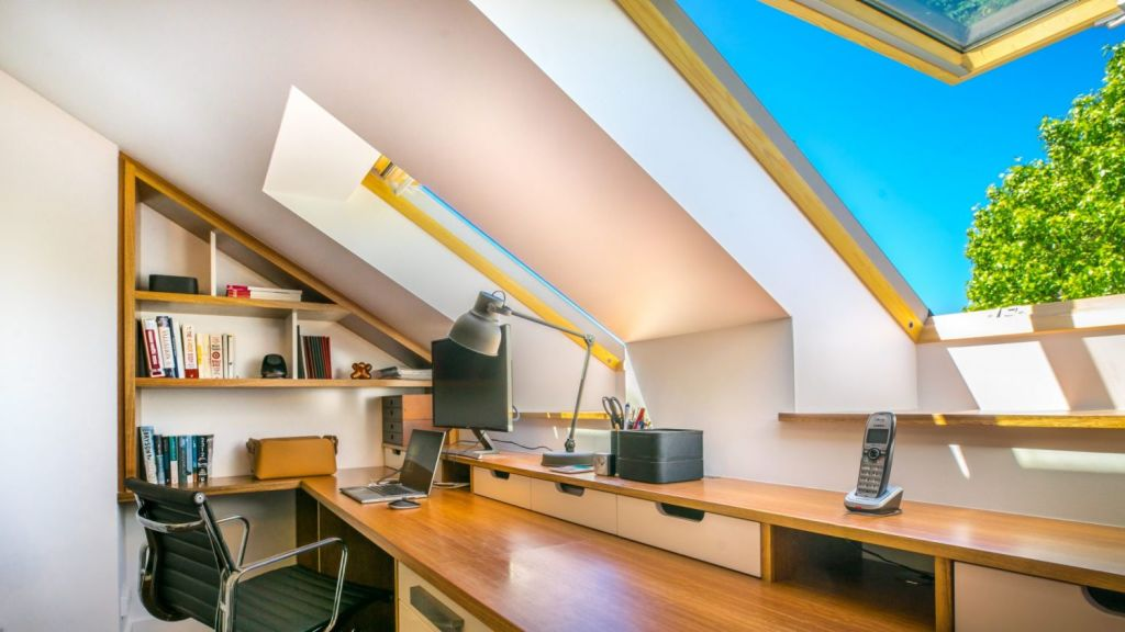 Loft home office space